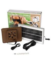 solar powered dog house fan