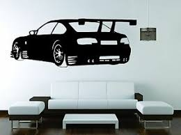 Bmw Wall Mural Vinyl Decal Sticker Decor M 3 M 5 Sport Car Racing Spoiler Ebay