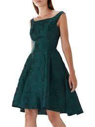 Coast Ava May Jacquard Print Dress, Forest at John Lewis & Partners