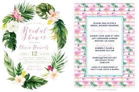 tropical themed bridal shower