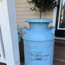 Personalized Family Name Decal For Milk Can Front Door Or Other Front Porch Decor Decal Only Front Porch Decorating Milk Cans Painted Milk Cans