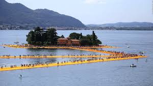 Floating Piers art installation on Italy's Lake Iseo