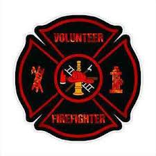 Firefighter Decal Black Flames Fire Department Sticker Car Truck Maltese Cross Ebay