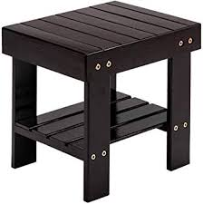 Amazon Com Moth Bamboo Step Stool For Kids Natural Bamboo Foot Stool With Storage Shelf Multfunctional Anti Slip Lightweight Chairs Seat For Bathroom Living Room Bedroom Laundry Room Or Garden Furniture Decor