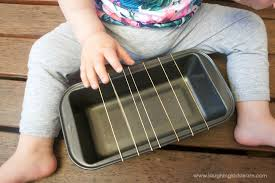 Homemade baby guitar instrument using rubber bands - Laughing Kids ...