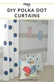 Diy Jumbo Polka Dot Curtains With Fabric Paint