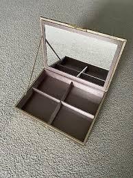 mirrored jewellery box velvet interior