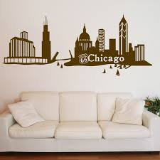 Style And Apply Chicago Skyline Wall Decal Wayfair