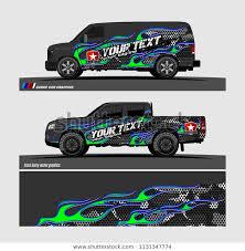 Car Decal Design Vector Abstract Flame Stock Vector Royalty Free 1131347774