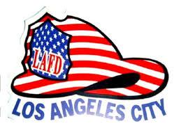 Lafd American Flag Helmet Window Decal Fire Attire