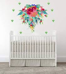 Amazon Com Baby Girl Nursery Wall Decals Baby Girl Room Nursery Decals Flowers Room Wall Stickers Bloom Wall Art Baby Room Decal Modern Decals Handmade