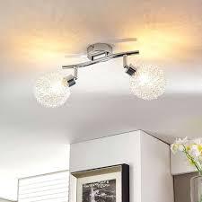 modern ceiling lamp chrome 2 lights