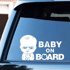 Baby On Board Girl Sticker 17x11cm Car Bumper Sticker Hangover