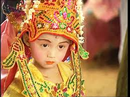 novice buddhism myanmar sd stock