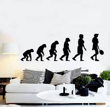 Vinyl Wall Decal Evolution Tennis Player Sports Teen Room Stickers Mur Wallstickers4you