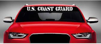 Amazon Com Noizy Graphics 40 X 4 U S Coast Guard Car Windshield Sticker Truck Window Vinyl Decal Color White Automotive