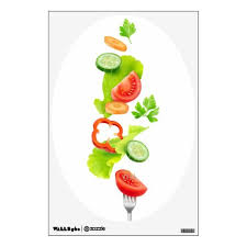 Fresh Salad Vegetables Wall Sticker Custom Wall Decals With Beautiful Fruits And Vegetables Zazzle Wall Decals Custom Wall Decals Beautiful Fruits