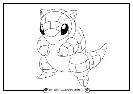 Kleurplaat Van Sandshrew Downloaden Kleurplaat Pokemon