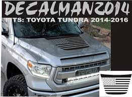 Vinyl Hood Decal Compatible With Toyota Tundra 2014 To 2018 American Flag Decal Toyota Tundra Tundra Truck Tundra