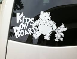 Kids On Board Vinyl Decal Sticker Car Window Winnie The Pooh Piglet Family Baby Vinyl Decal Stickers Vinyl Sticker Vinyl Decals
