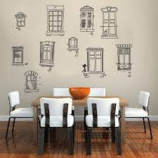 Removable Wall Decal Sticker Vinyl Paris French Country Provance Windows Street Removable Wall Decals Wall Decal Sticker Wall Decals