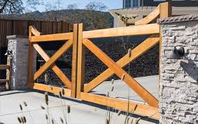 Look At This Beautiful Farm Style Gate From Pacific Gate Works Customize Yours Today Fence Gate Design Wood Gates Driveway Driveway Gate
