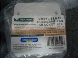 Ct Lot Of Veranda Vinyl Fence Hurricane Rail Bracket Kit 119032 On Popscreen
