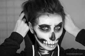 skeleton skull makeup tutorial for