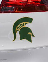 Msu Michigan State Pro Combat Inspired Spartan Helmet Car Etsy