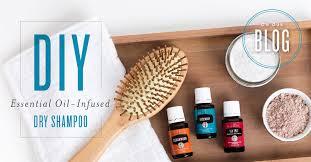 diy essential oil infused dry shampoo