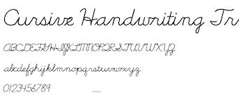 cursive handwriting tryout font