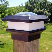 4x6 Fence Post Solar Light By Free Light 4x6 Post Cap Solar Lights