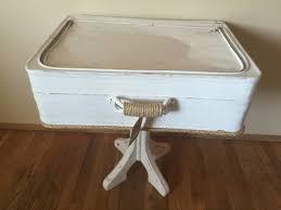 unique vintage side table luggage re