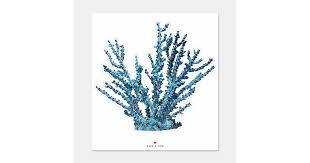 Blue Coral Sticker Zazzle Com