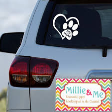Fur Mama Paw Print Heart Dog Doggie Pet Car Window Laptop Decal Sticker Oracal651 Car Decals Vinyl Laptop Decal Stickers Vinyl Decals