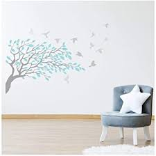 Amazon Com Azutura Ice Blue Grey Tree Branch Wall Decal Sticker Available In 8 Sizes Digital Kitchen Dining