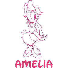 Daisy Duck Donald Mickey Disney Customized Wall Decal Custom Vinyl Wall Art Personalized Name Baby Girls