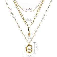 custom 26 letters name necklaces with