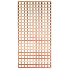 Mendocino Forest Products 7 16 In X 4 Ft X 8 Ft Redwood Square Hole Architectural Lattice 97503 The Home Depot