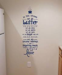 Wall Art Lettering In The Kitchen We Do Love Kitchen Wall Decals