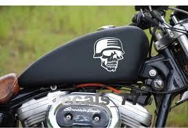 Soldier Skull Harley Davidson Motorcycle Fuel Gas Tank 2 Vinyl Etsy