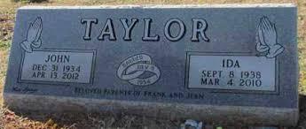 TAYLOR, IDA - Cleburne County, Arkansas   IDA TAYLOR - Arkansas ...