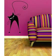 Custom Wall Decal Silly Crazy Cat Silhouette Sticker Vinyl Wall 20x30 Walmart Com Walmart Com