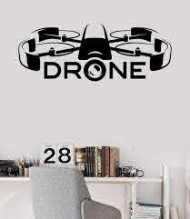 Vinyl Wall Decal Drone Racing Uav Newest Technologies Stickers Unique Wallstickers4you