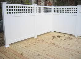 5 Scottsdale Square Lattice Vinyl Privacy Fence Weatherables
