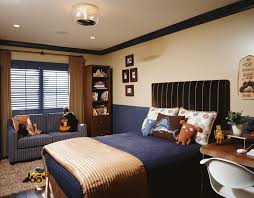 Los Angeles Navy Blue Boys Room Contemporary Kids With Plantation Shutters And Crown Molding