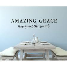 Christian Sayings Wall Art Amazing Grace Sweet The Sound Decals Decor 44x10 Inch Black Walmart Com Walmart Com