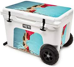 Amazon Com Mightyskins Cooler Not Included Skin Compatible With Yeti Tundra Haul Cooler Deepsea Glamour Protective Durable And Unique Vinyl Decal Wrap Cover Easy To Apply Made In The Usa