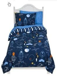 space rocket ship twin comforter set