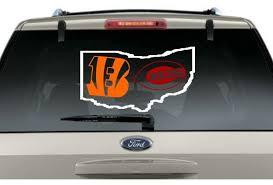 Buy 2 Get 1 Free Bengals Reds State Car Decal Various Size Window Sticker Cincinnatibengals Football Decal Cincinnati Bengals Cincinnati